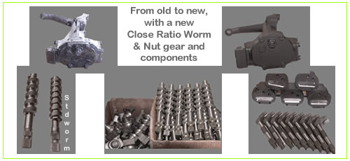 Jaguar Mk1 and Mk2 Close Ratio worm and nut kit